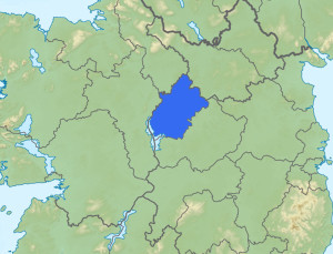 Map of Co. Longford in the heart of Ireland